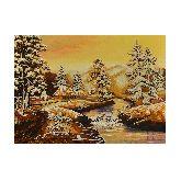 Зимний пейзаж с янтаря
