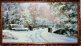 Зимой в парке у моста