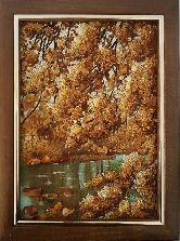 Золотая осень пейзаж из янтаря